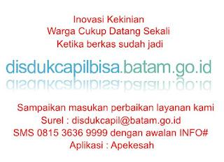 Inovasi Disduk Capil Kota Batam Pengurusan Via Online melalui disdukcapilbisa.batam.go.id