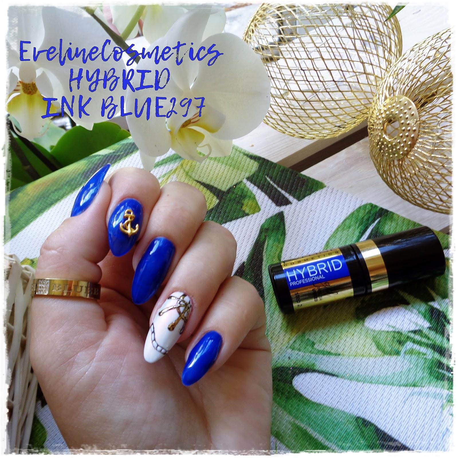 Eveline Cosmetics, Hybrid Profesional,  INK BLUE 297, Wakacyjny Czas.