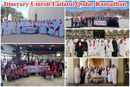 Program Itinerary Umroh 13 Hari Lailatul Qodar Ramadhan Transit