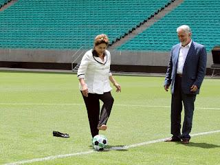 Presidente Dilma Rousseff inaugura oficialmente a Fonte Nova, em Salvador