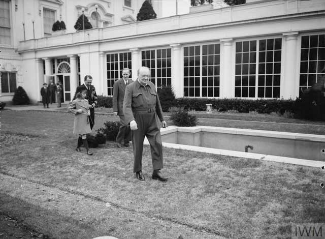 Winston Churchill at the White House, 3 January 1942 worldwartwo.filminspector.com