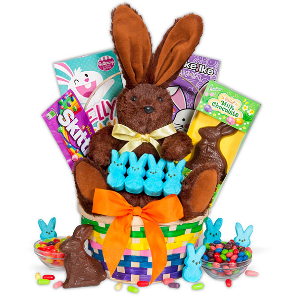 The art of random willy nillyness 2018 solid milk chocolate bunny easter peeps jelly beans skittles and more it includes a huge fluffy stuffed bunny as well budget friendly at 4999 negle Gallery