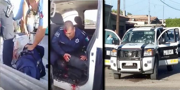 Video, Sicarios interceptan y atacan a tiros a comandante de la SSPM y a su escolta en Ciudad Obregón, Sonora