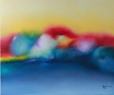 Formas coloridas em desfoque - Elma Carneiro