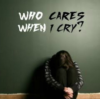 Who Cares When I Cry Sad DP for Girls