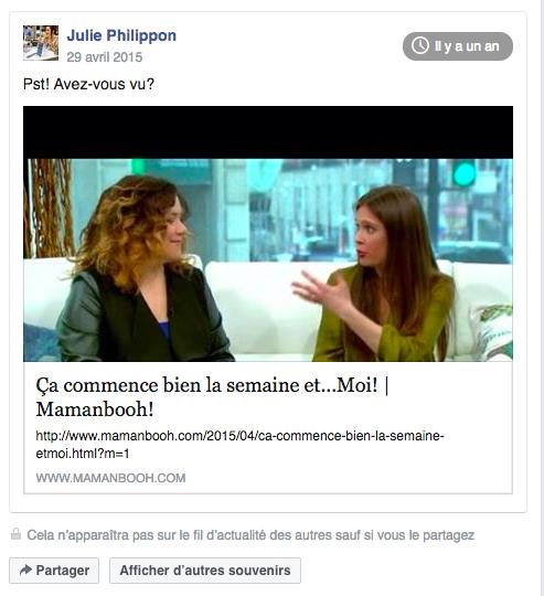 Julie Philippon conférencière blogueuse auteure