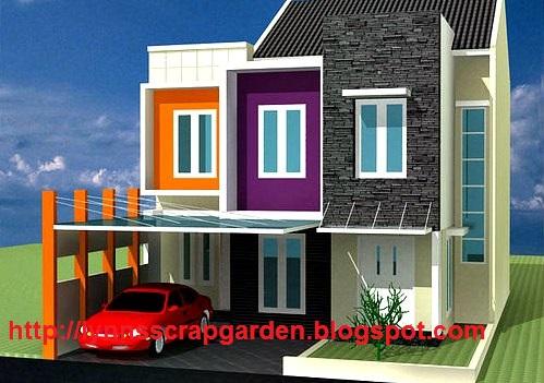 contoh design rumah minimalis 2 lantai type 21, 36 dan 45