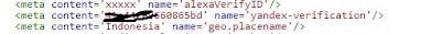 Cara Menambahkan Dan Verifikasi Blog Ke Yandex
