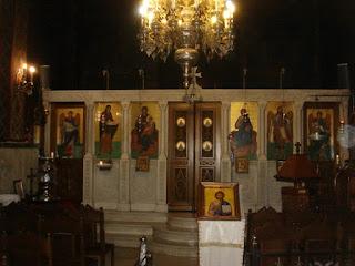 Ο Άγιος Γεράσιμος της 'Πολυκλινικής Αθηνών' όπου ιερουργούσε ο Γέροντας.