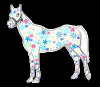Cavalo floral - Criação Blog PNG-Free