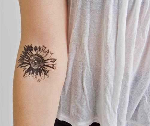 Beautiful Arm Sunflower Tattoo