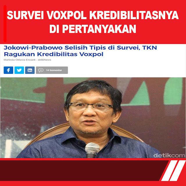Jokowi-Prabowo Selisih Tipis di Survei, TKN Ragukan Kredibilitas Voxpol