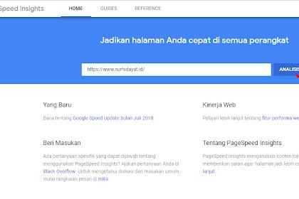 Cara Cek Kecepatan Loading Website Atau Blog ( Web Speed Test )
