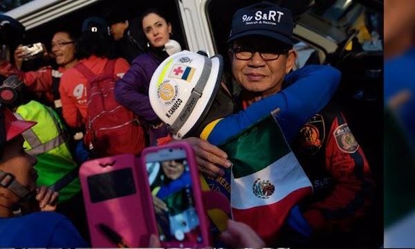 Cantando Cielito Lindo, despiden a brigadistas de Corea del Sur1