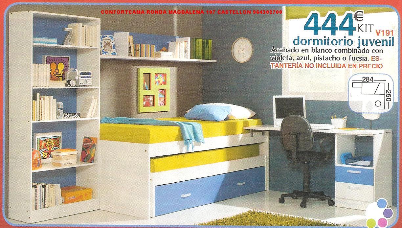 Muebles oferta kit dormitorios juveniles for Ofertas de muebles juveniles