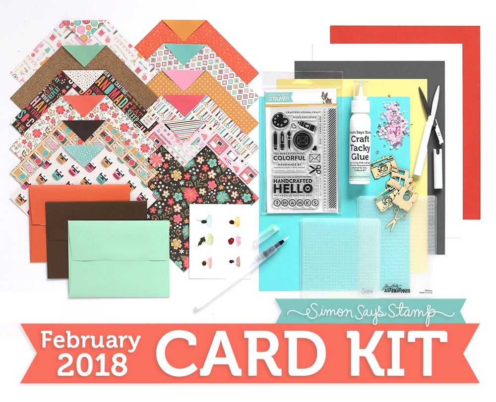 This Months Fabulous Kit Includes The Fun New Crafty Friend Stamp Set Some Prima Wood Embellishments Studio Katia Cupids Kiss Crystals TWO Tim Holtz