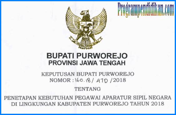 formasi CPNS Purworejo 2018