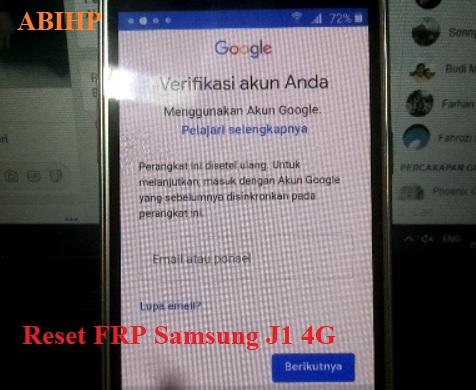 Tutorial cara bypass FRP Samsung j120G tanpa hapus data.