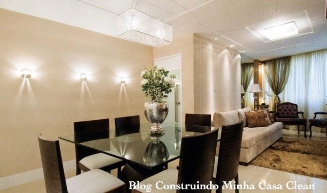#474280 Construindo Minha Casa Clean Arandelas Iluminando e Decorando os Ambientes 670x396 píxeis em Ambientes De Sala De Estar Jantar Modernos E Sofisticados