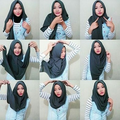 Tutorial Hijab Modern Terbaru Untuk Trend Baju Muslim Batik Agar Tampil Stylish