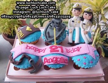 Cupcake Ulang Tahun Kapal TNI Angkatan Laut AL