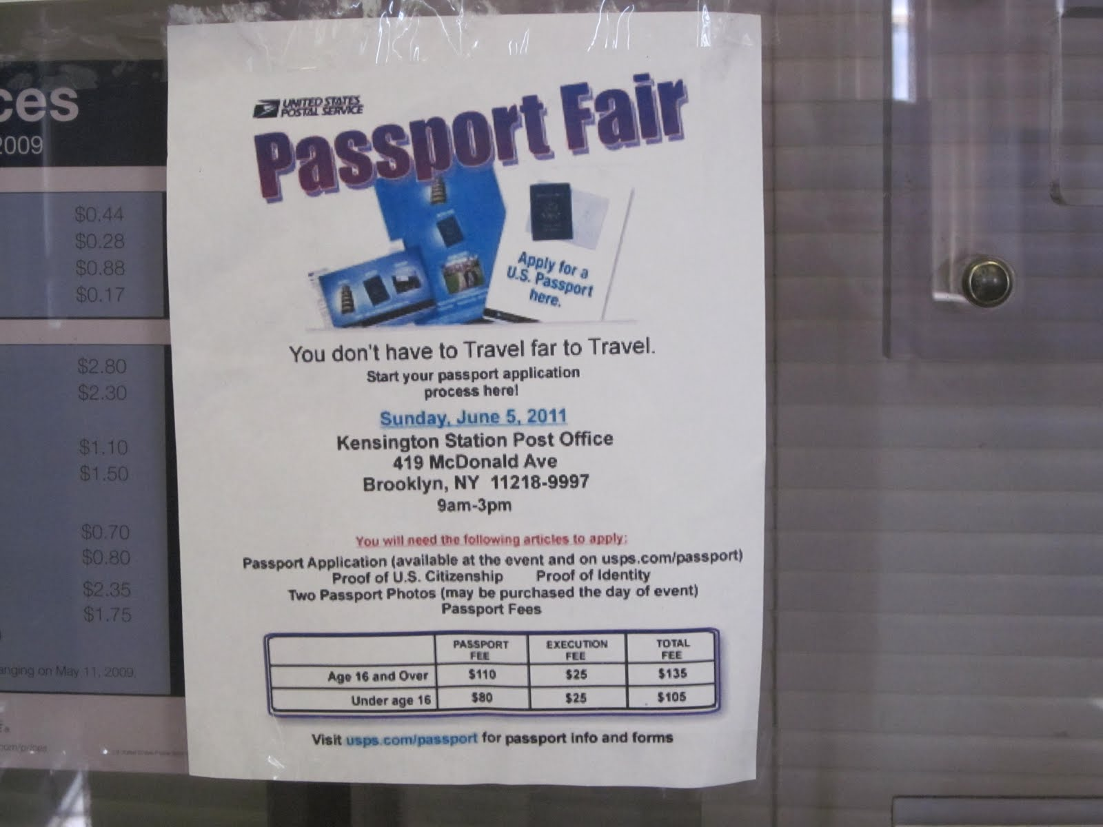KARMABrooklyn Blog KENSINGTON POST OFFICE PASSPORT FAIR FLYER