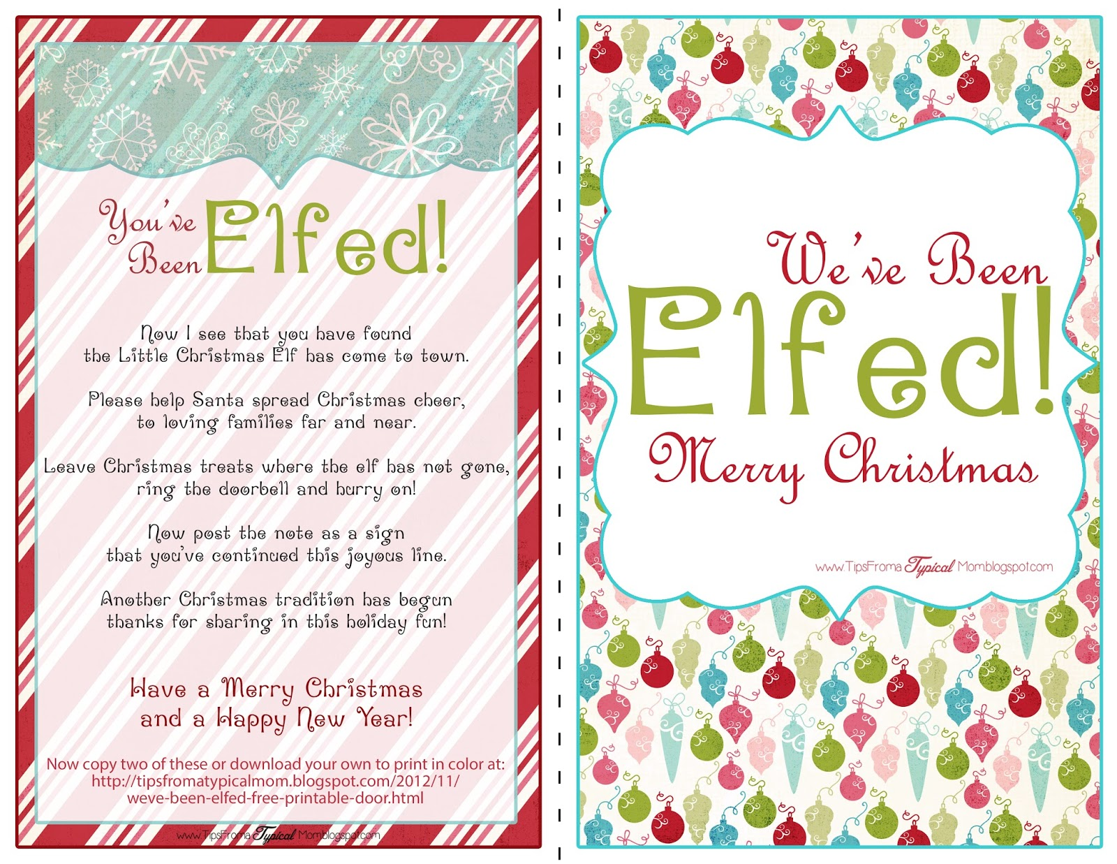 we ve been elfed free printable door signs and instructions