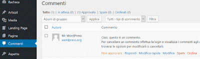 Come cancellare un commento su WordPress