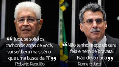 Senadores Requião e Jucá, do PMDB, trocam ofensas em vídeos nas redes sociais
