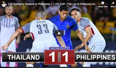 Xem lại trận đấu - Video quay lại trận: Phillipines vs Thái Lan ngày 21/11