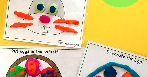Free Easter Playdough Mats Totschooling Toddler