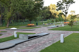 Photo of the Miniature Golf course in Pyongyang, North Korea