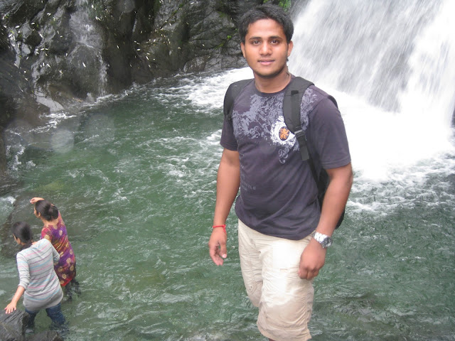 in waterfall