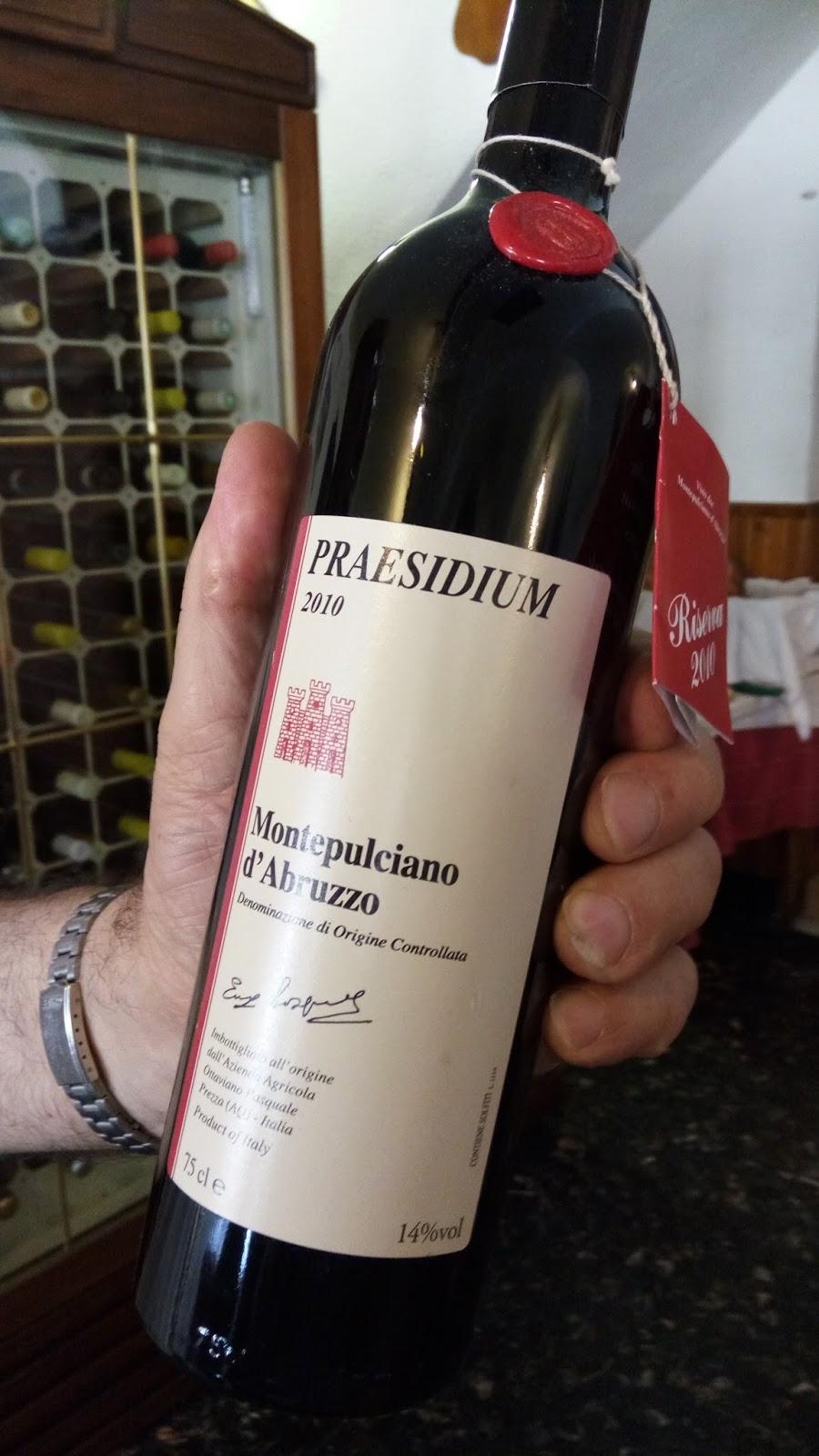 Baccoebocca montepulciano d 39 abruzzo riserva praesidium - Vino e cucina chiavari ...