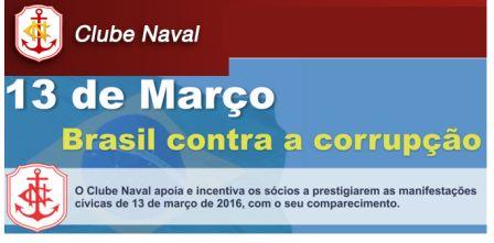 clube naval convida para protestos de 13 de março de 2016