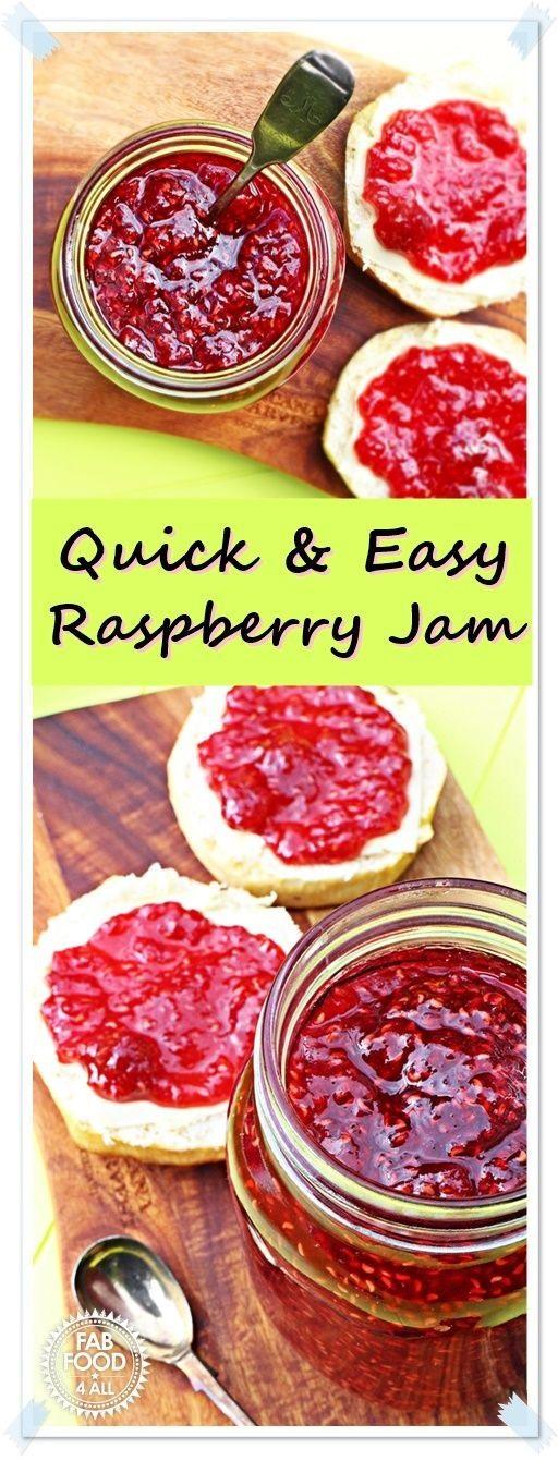 Quick & Easy Raspberry Jam - no pectin