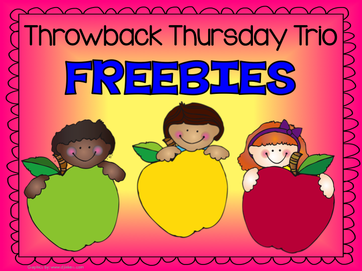 Throwback Thursday Trio FREEBIES - Nine Easter / Spring Addition Center Games
