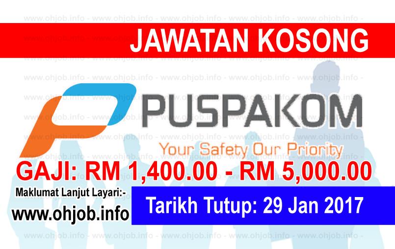 Jawatan Kerja Kosong Puspakom Sdn Bhd logo www.ohjob.info januari 2017