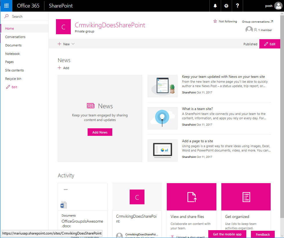 CRM Viking: SharePoint retention policy and Office Groups, part 2
