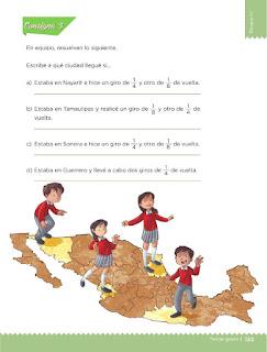 Apoyo Primaria Desafíos matemáticos 3ro Grado Bloque IV Lección 62 Una vuelta por México
