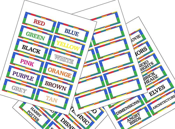 FREE Printable LEGO Labels for Easy LEGO Organization Sunny Day Family