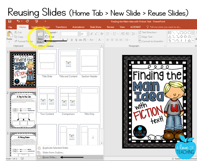 Steps to Reusing Slides in PowerPoint