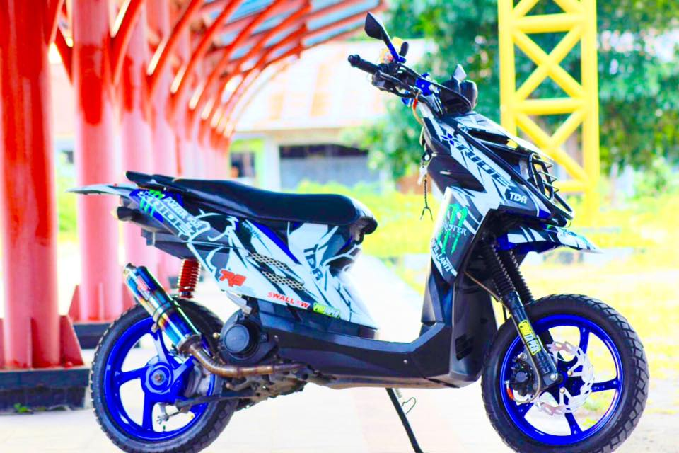 Modifikasi X ride Supermoto
