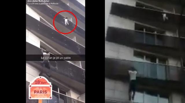 Seorang Laki-Laki Menyelamatkan Anak Kecil Dari Lantai 4 Dengan Tak Terduga Mendapat Rejeki Yang Berlimpah Dan Menyebutnya Spiderman Muslim