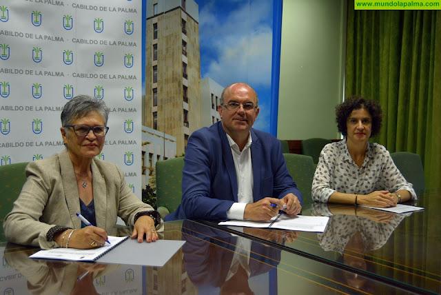 El Cabildo y Funcataes acuerdan la gestión de 34 plazas para personas con discapacidad intelectual en el Centro Ocupacional Taburiente