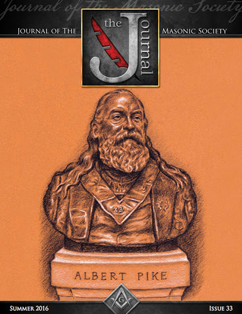Journal of the Masonic Society. Issue 33. Albert Pike. Cover Art by Travis Simpkins