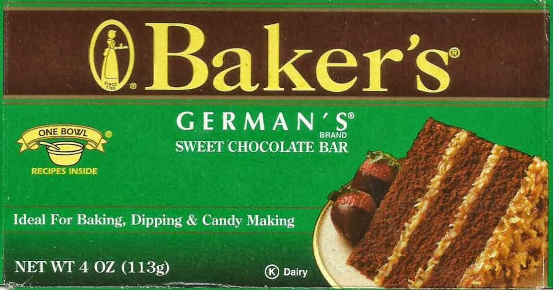 Bakers German Chocolate Cake Recipe