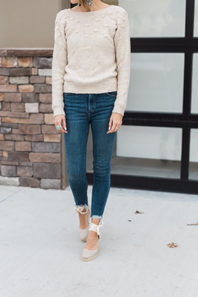 Oatmeal Color Sweater - One Little Momma