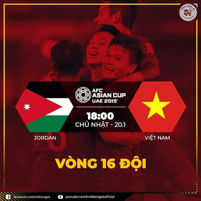 Jordan vs Vietnam Live streaming AFC 2019 (20.1.2019)