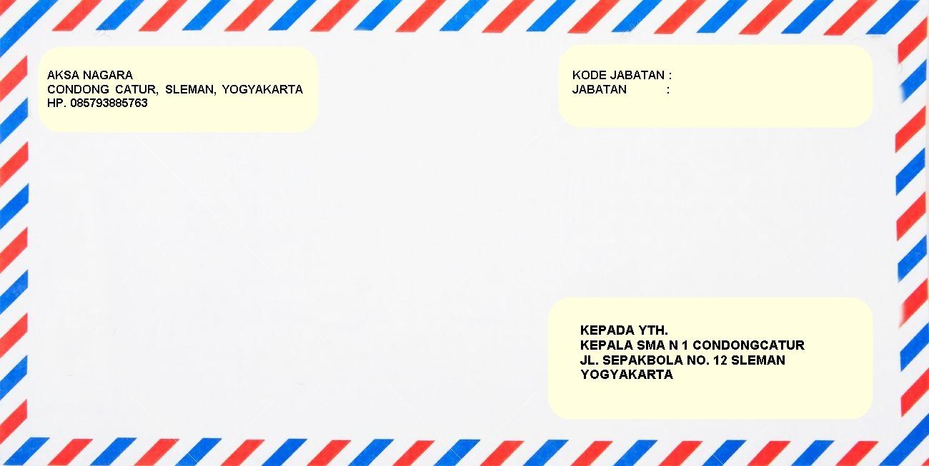 Contoh Amplop Surat Lamaran Kerja Yang Baik Dan Benar ...